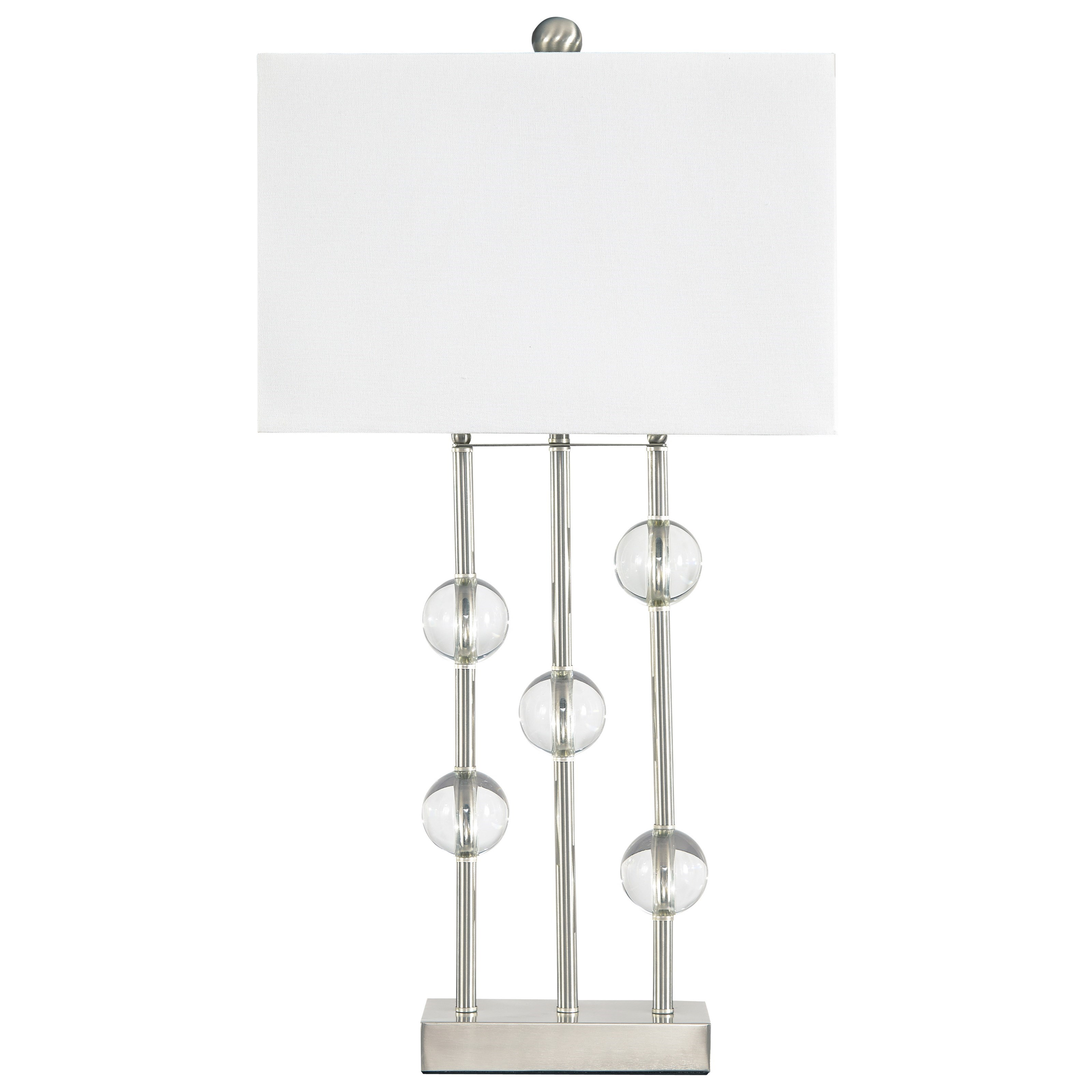 Lamps - Contemporary Jaala Clear/Silver Finish Metal Lamp by Signature at Walker's Furniture