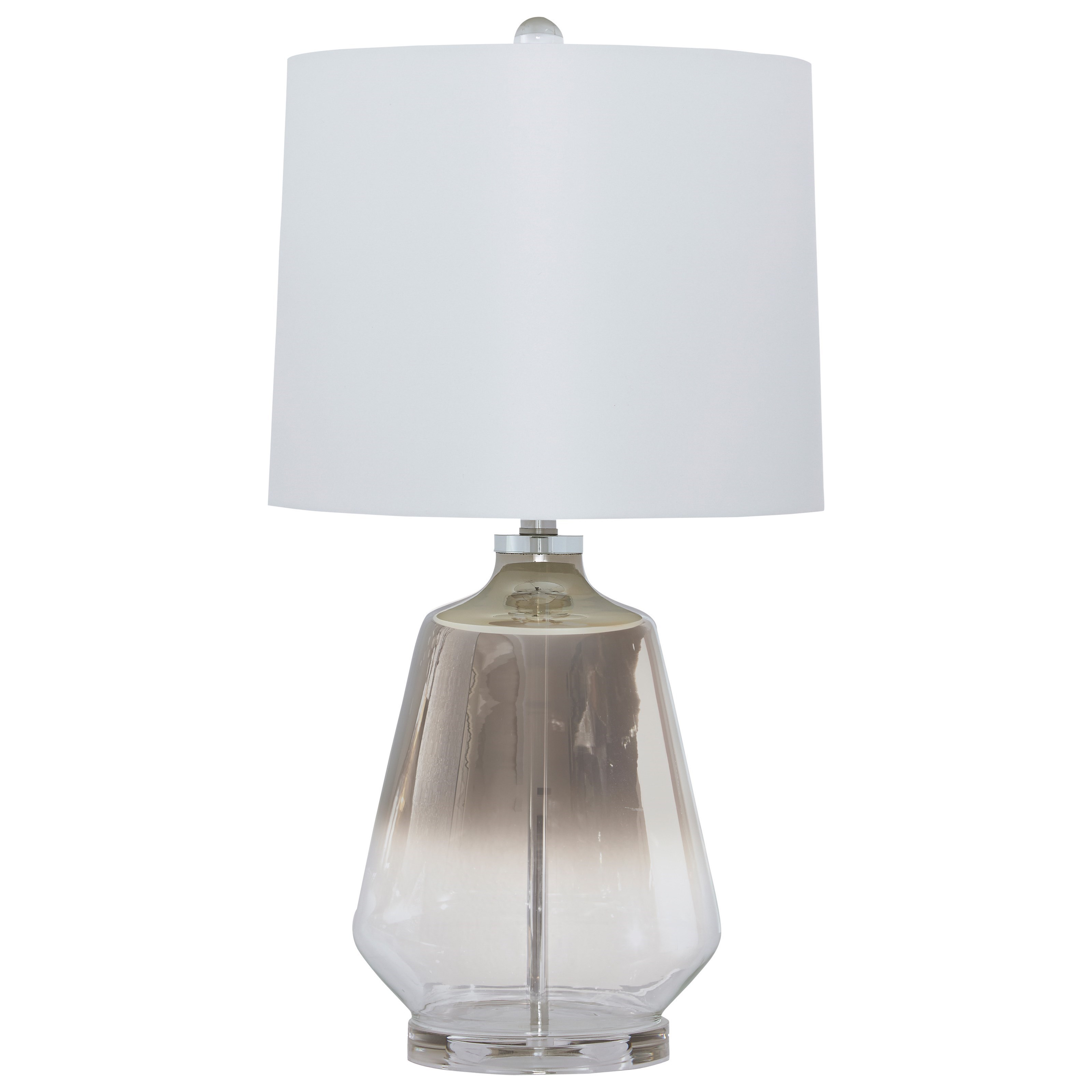 Lamps - Contemporary Jaslyn Glass Table Lamp by Signature at Walker's Furniture