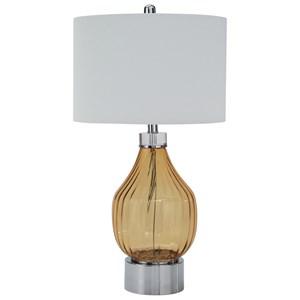 Martirio Amber Glass Table Lamp