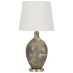 Jemarie Gray/Gold Finish Glass Table Lamp