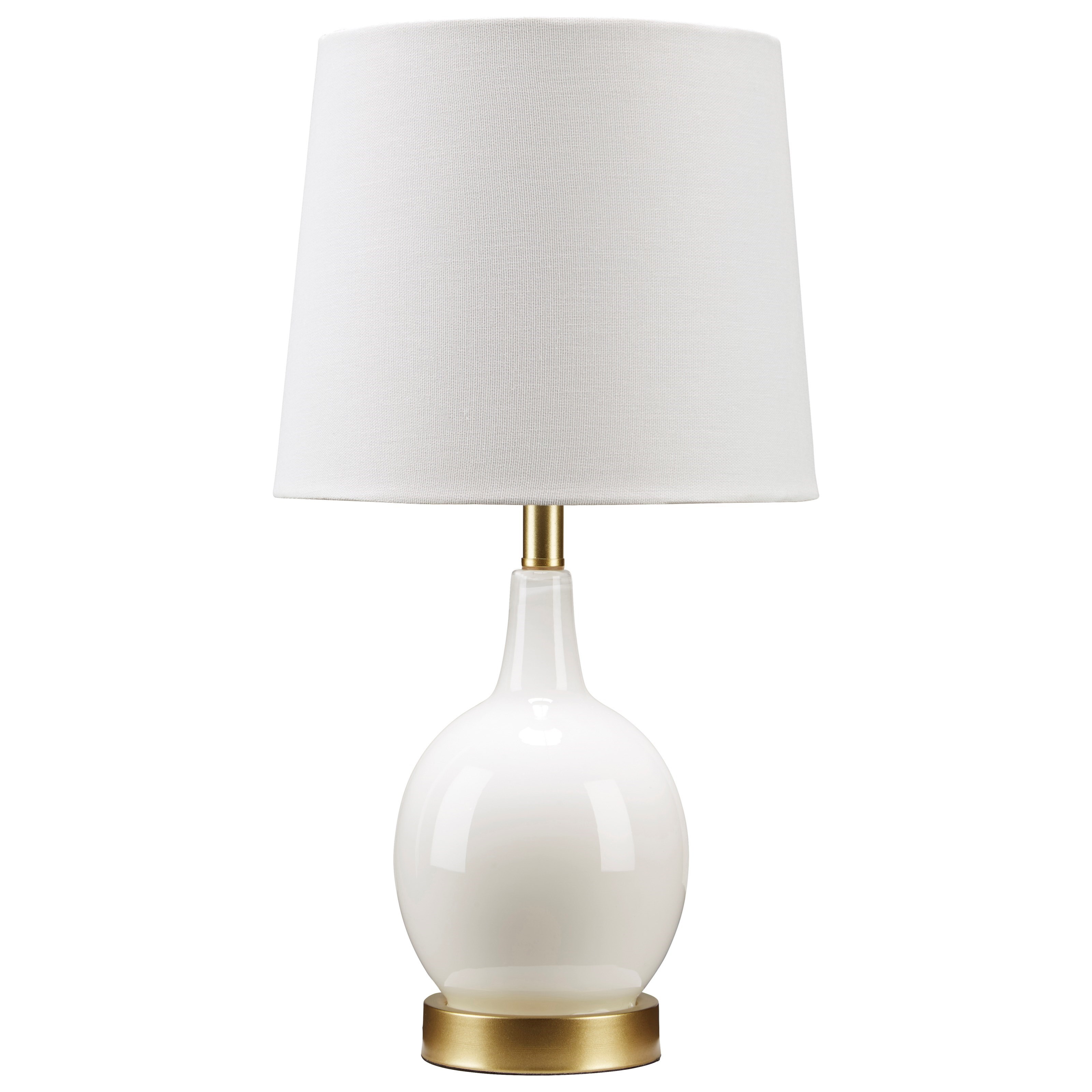 Lamps - Contemporary Arlomore White Glass Table Lamp by Signature Design by Ashley at Zak's Home Outlet