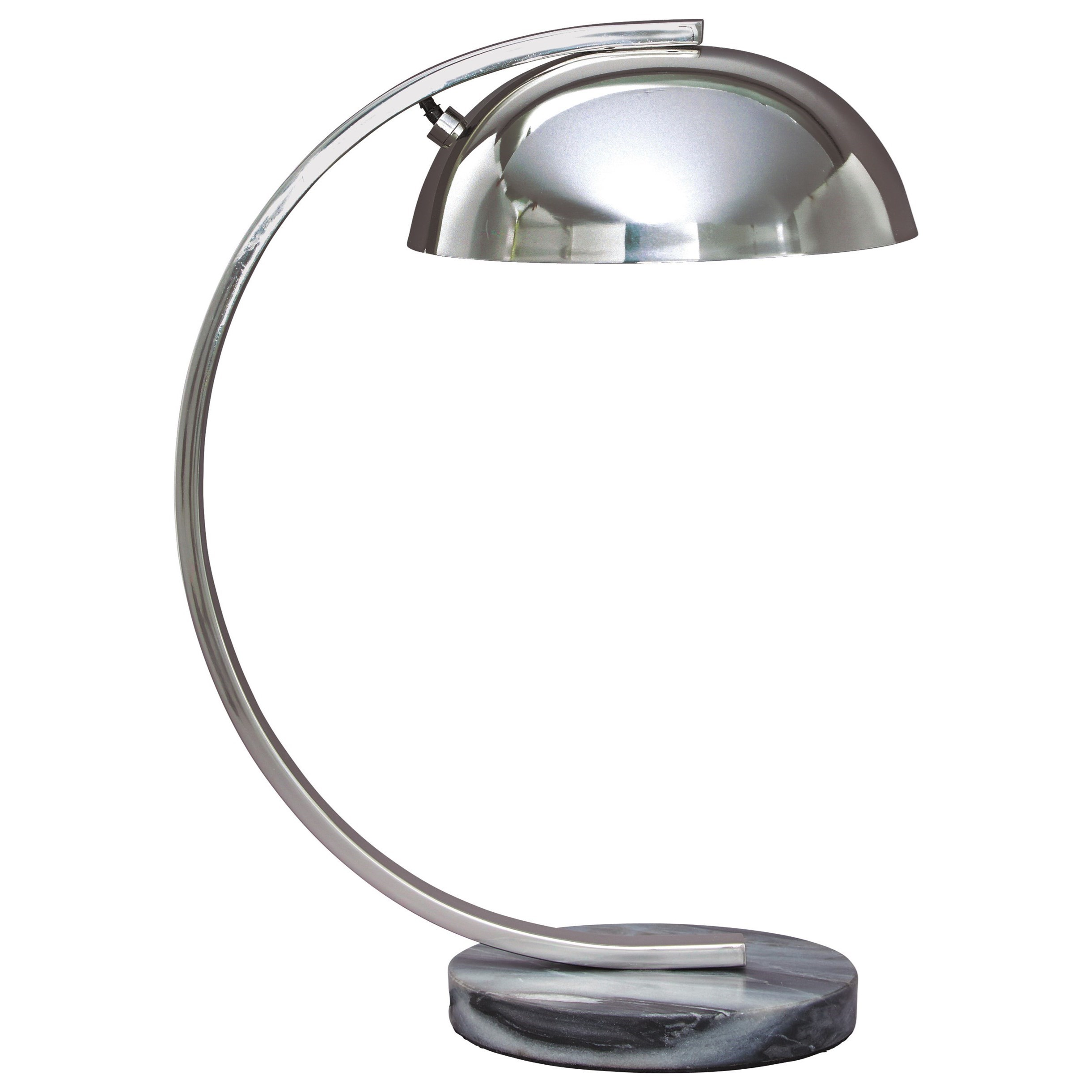 Lamps - Contemporary Haden Chrome Finish Metal Desk Lamp by Signature at Walker's Furniture