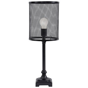 Signature Design by Ashley Lamps - Contemporary Asatira Black Metal Table Lamp