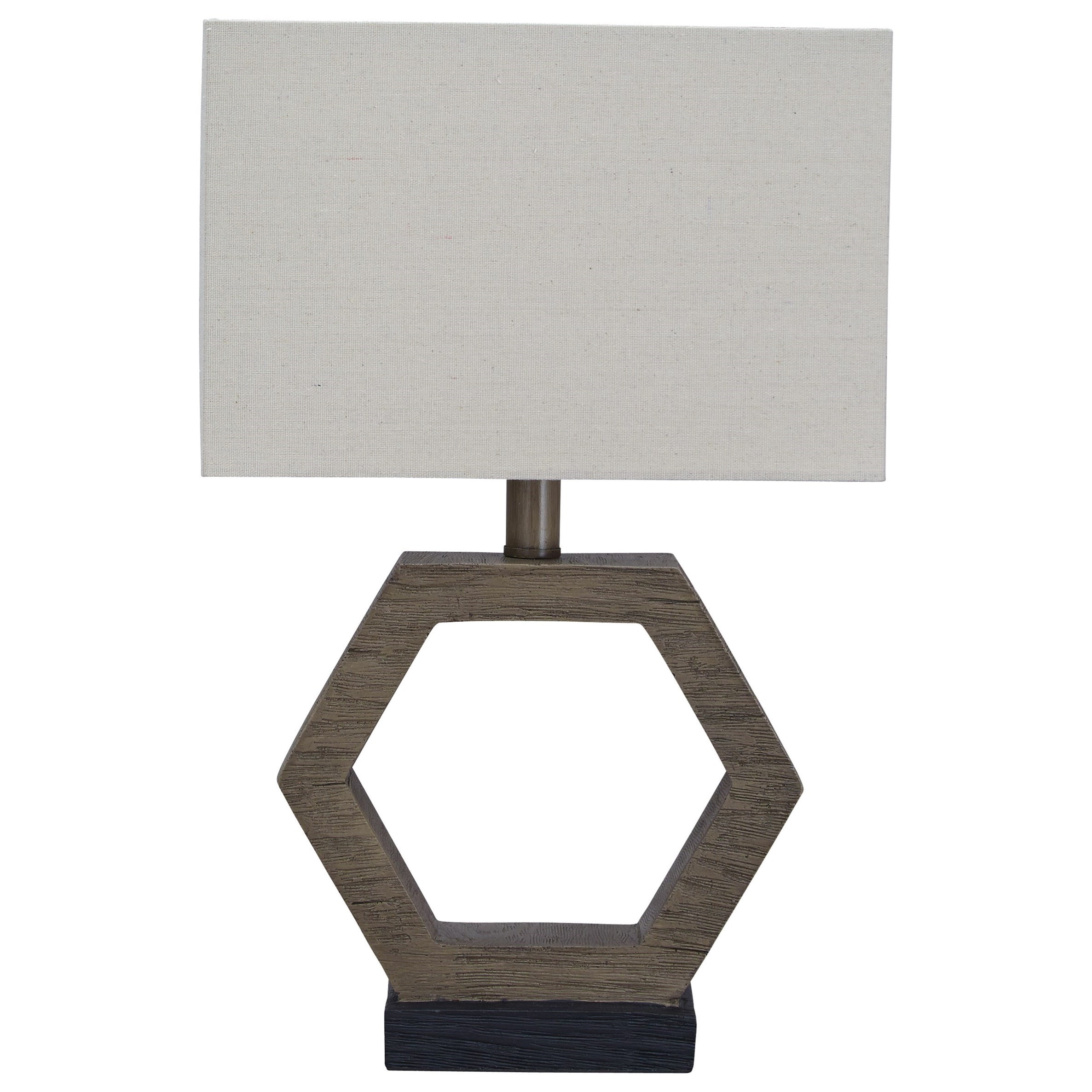 Lamps - Contemporary Marilu Faux Wood Table Lamp by Ashley (Signature Design) at Johnny Janosik