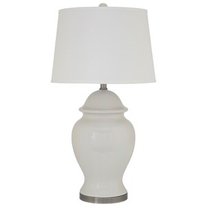 Signature Design by Ashley Lamps - Vintage Style Darena Ceramic Table Lamp