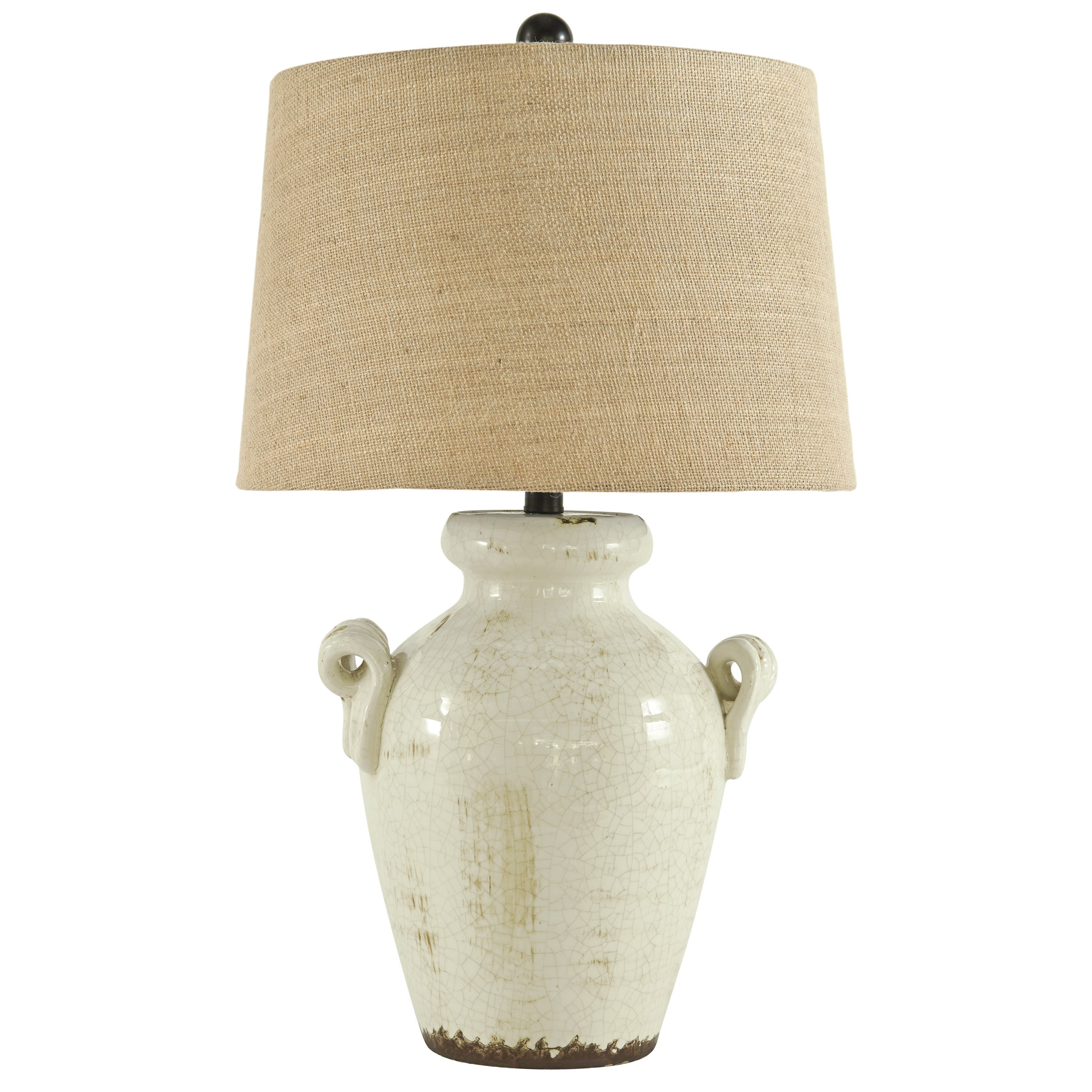 Lamps - Vintage Style Emelda Cream Ceramic Table Lamp by Signature Design by Ashley at Northeast Factory Direct