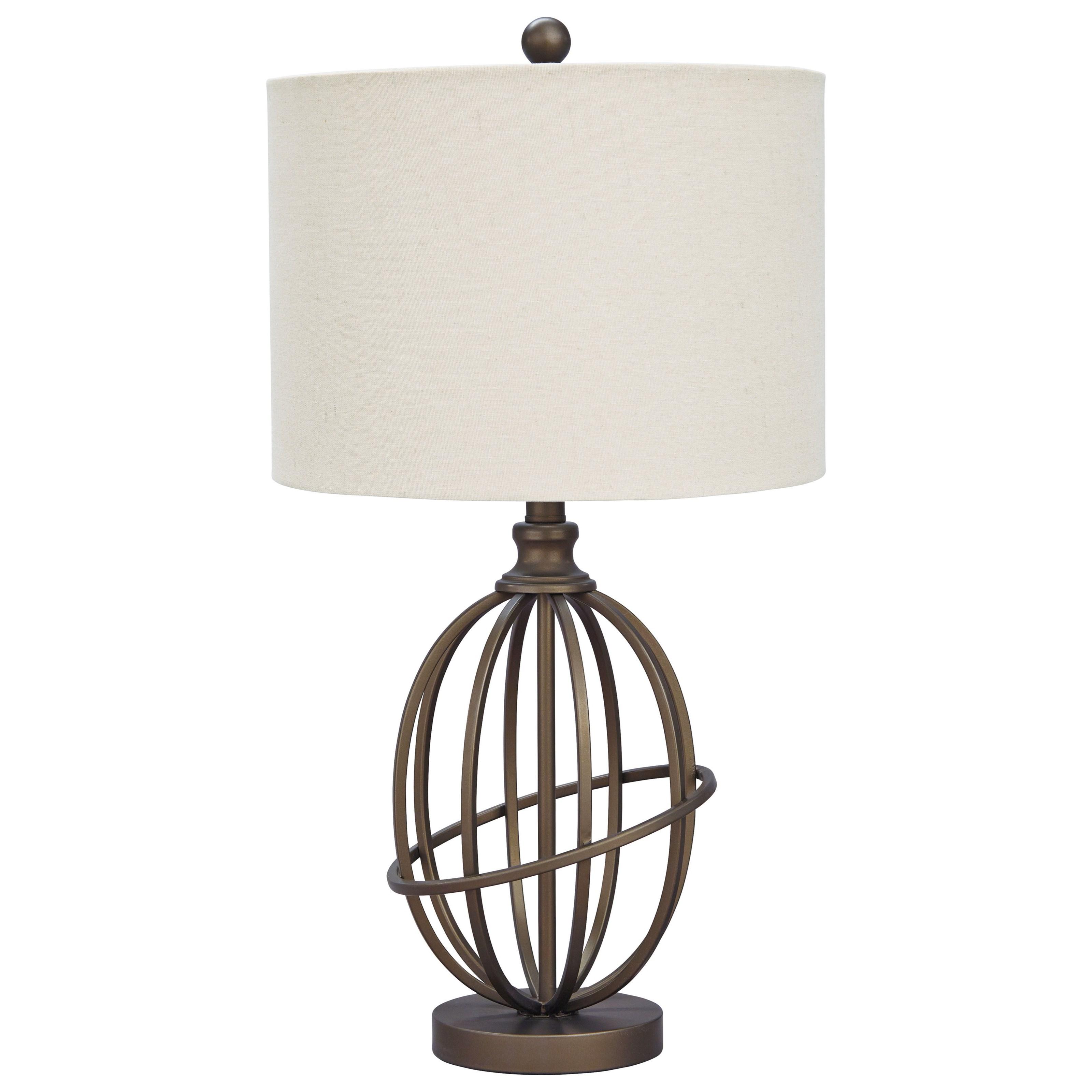 Manase Bronze Finish Metal Table Lamp