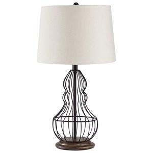 Set of 2 Maconaque Black Metal Table Lamps
