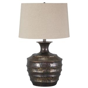 Signature Design by Ashley Lamps - Vintage Style Kymani Metal Table Lamp
