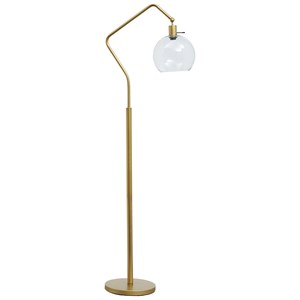 Marilee Antique Brass Finish Metal Floor Lamp