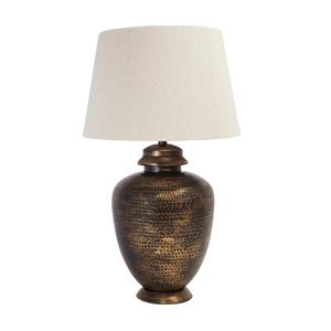 Signature Design by Ashley Lamps - Vintage Style Sarice Antique Brass Finish Metal Table Lamp