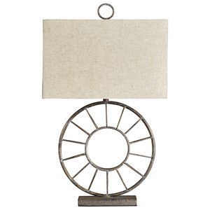 Kavia Antique Brown Metal Table Lamp