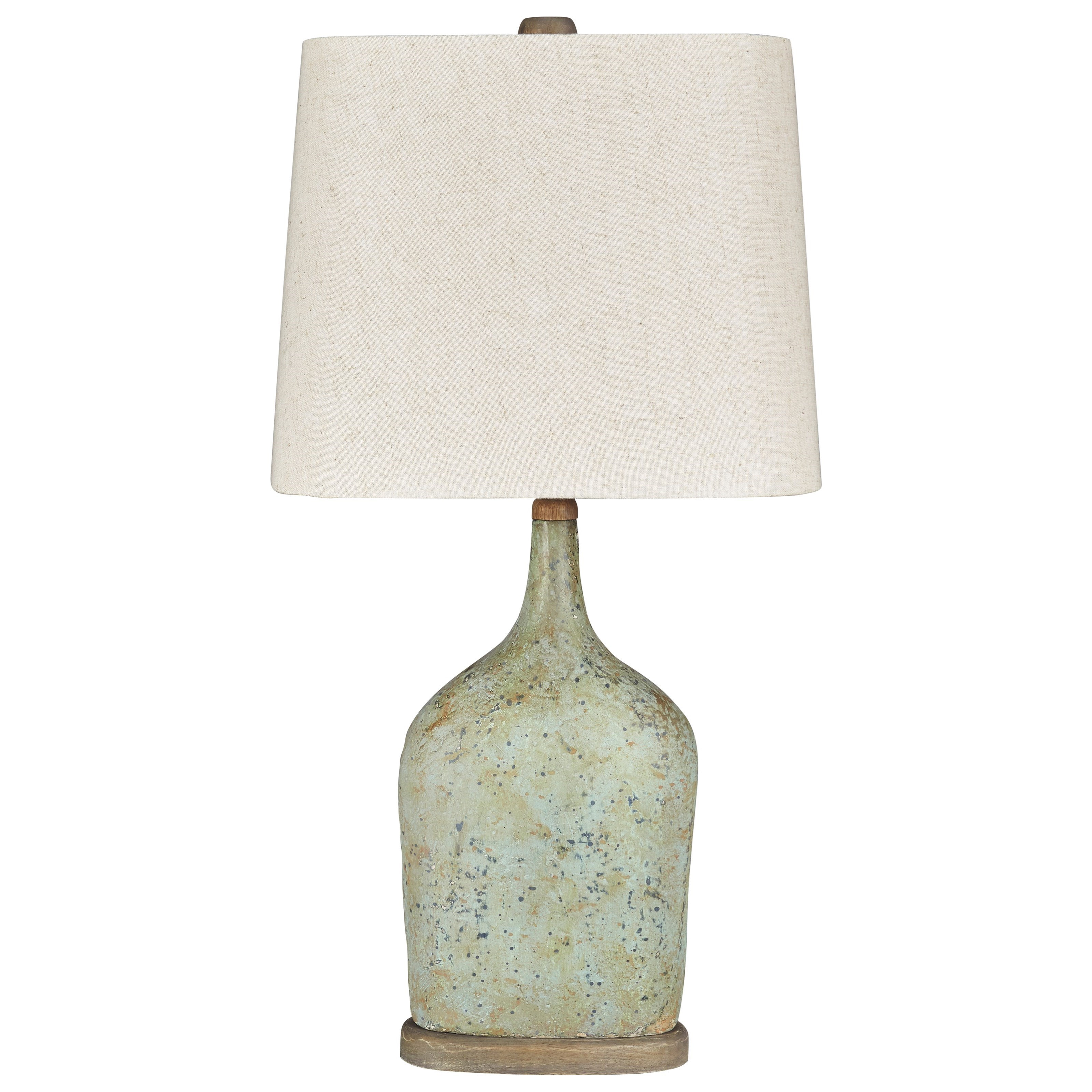 Lamps - Vintage Style Set of 2 Maribeth Sage Paper Table Lamps by Signature Design by Ashley at Zak's Warehouse Clearance Center