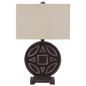 Signature Design by Ashley Lamps - Vintage Style Tabrimon Wood Table Lamp
