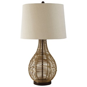 Set of 2 Erwin Rattan Table Lamps