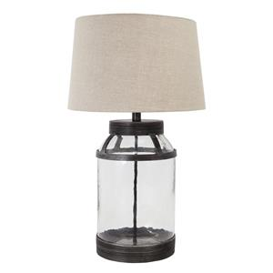 Signature Design by Ashley Lamps - Vintage Style Shanika Transparent Glass Table Lamp