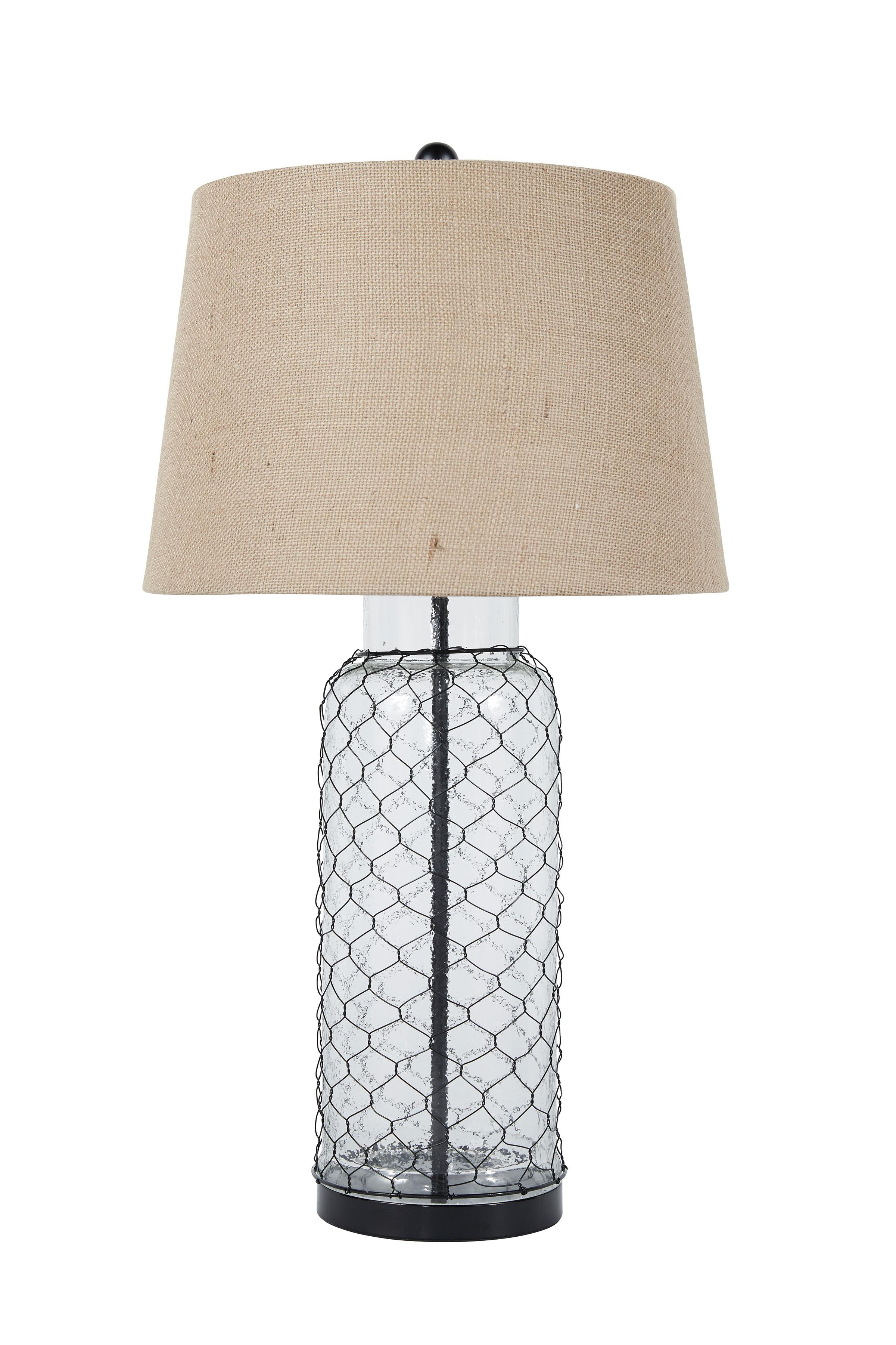 Lamps - Vintage Style Glass Table Lamp  by Signature at Walker's Furniture
