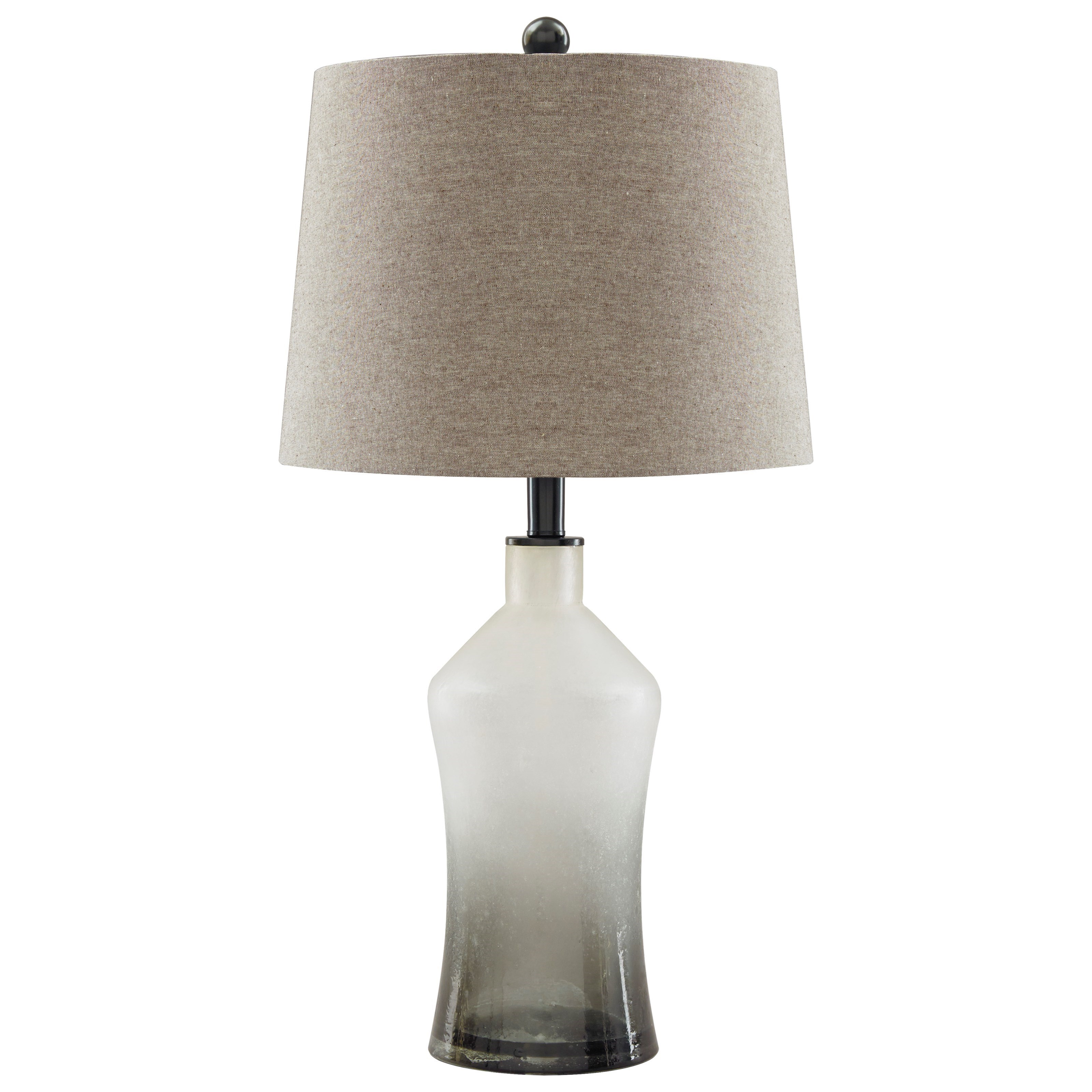 Lamps - Vintage Style Set of 2 Nollie Gray Glass Table Lamps by Ashley at Morris Home
