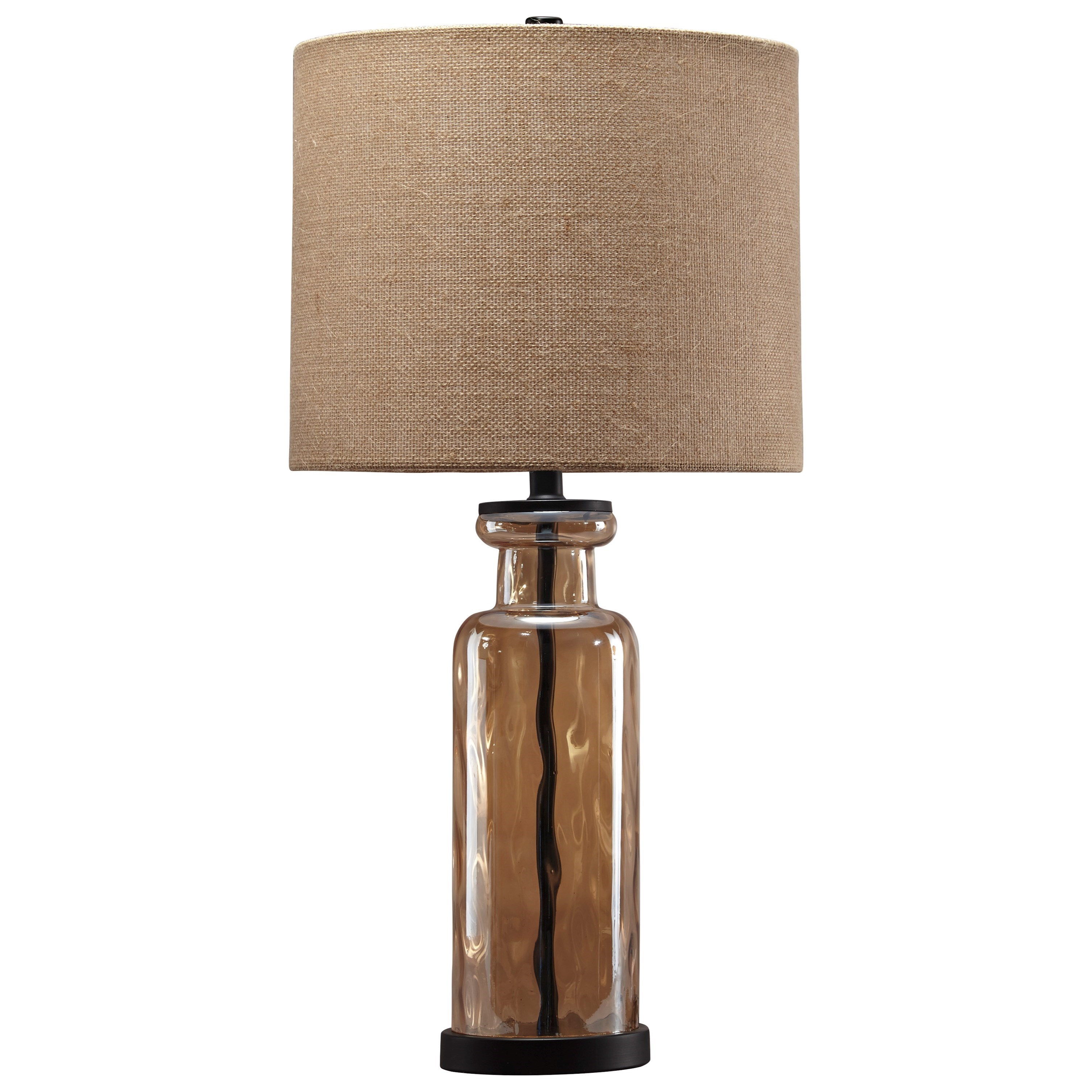 Lamps - Vintage Style Laurentia Champagne Glass Table Lamp by Signature Design by Ashley at Northeast Factory Direct