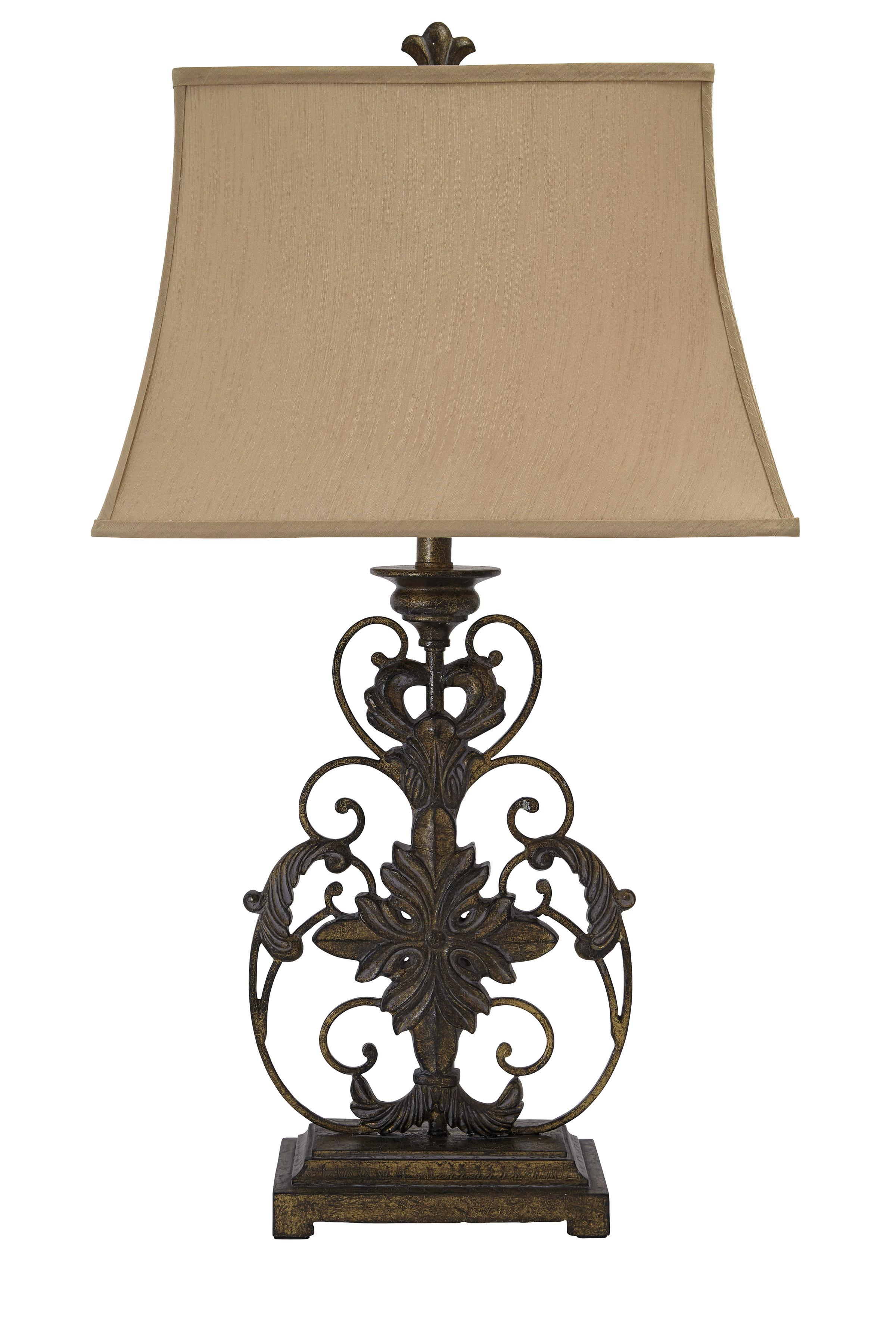 Lamps - Traditional Classics Metal Table Lamp  by Signature at Walker's Furniture