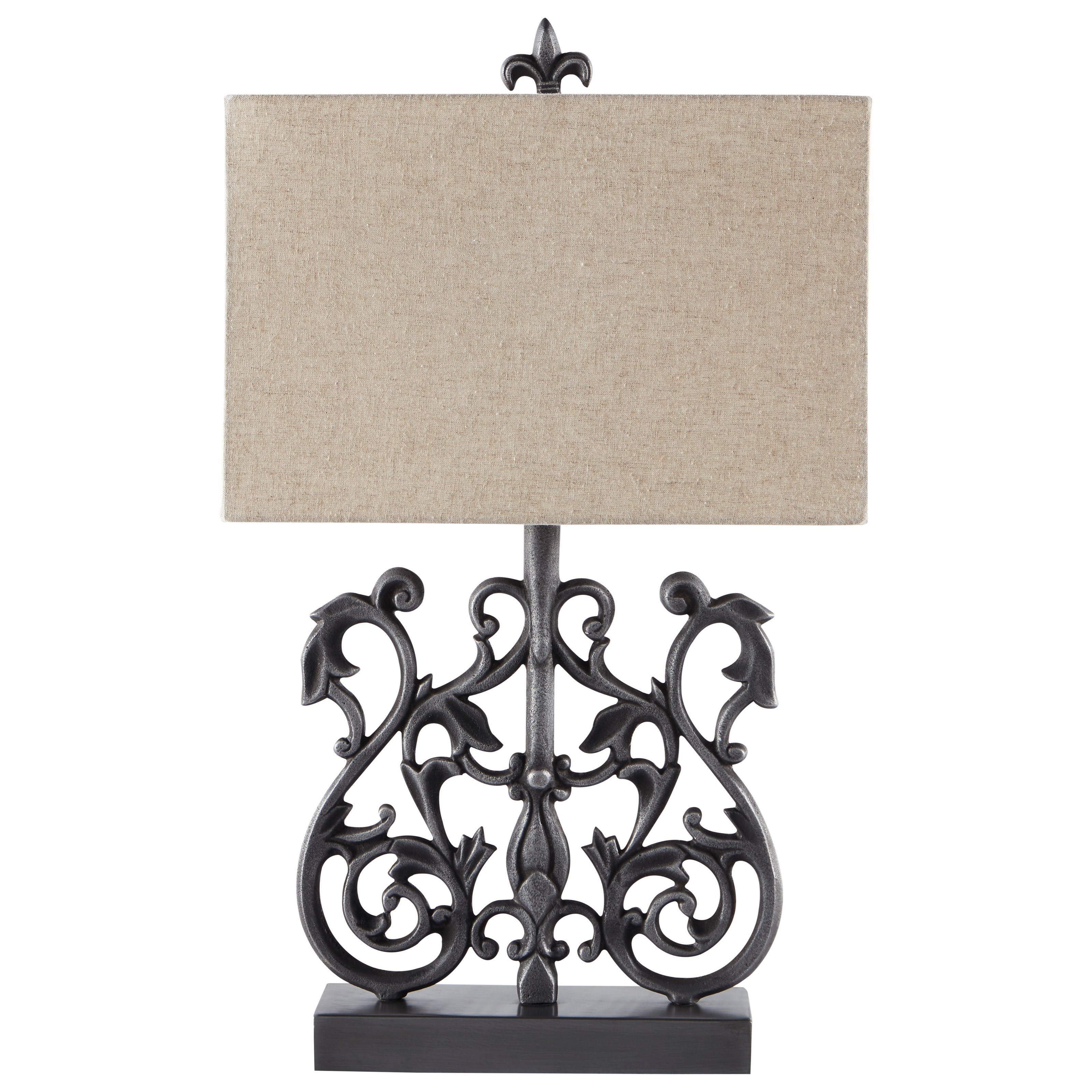 Lamps - Traditional Classics Capper Antique Silver Metal Table Lamp by Signature at Walker's Furniture