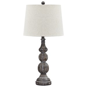 Set of 2 Mair Antique Black Poly Table Lamps
