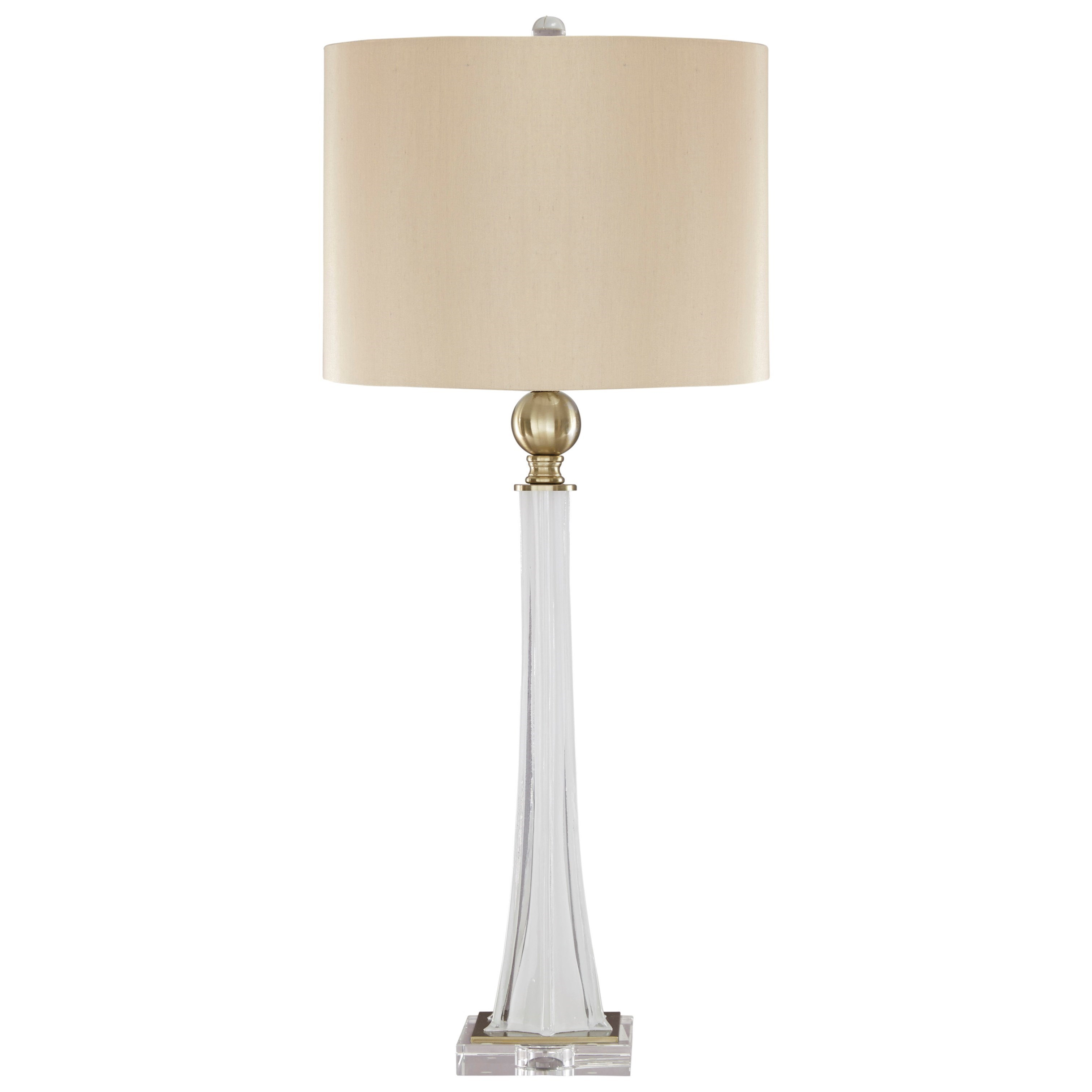 Lamps - Traditional Classics Set of 2 Laureen Glass Table Lamps by Signature Design at Fisher Home Furnishings
