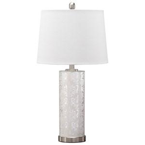Set of 2 Nichole Silver Finish Mercury Glass Table Lamps