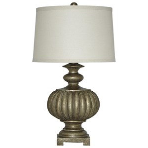 Signature Design by Ashley Lamps - Traditional Classics Araminta Antique Gray Poly Table Lamp