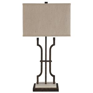 Signature Design by Ashley Lamps - Traditional Classics Malik Metal Table Lamp