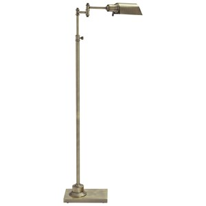 Signature Design by Ashley Lamps - Traditional Classics Arawn Antique Brass Finish Metal Floor Lamp