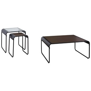Contemporary 3-Piece Occasional Table Set