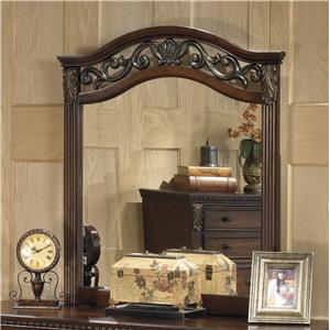 Traditional Beveled Bedroom Mirror with Ornate Frame