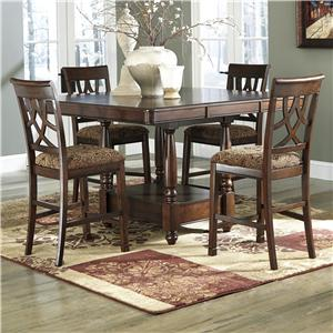 Signature Design by Ashley Leahlyn 5-Piece Counter Table Extension Set