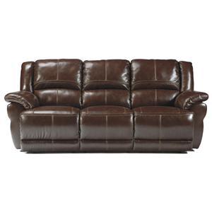 Signature Design by Ashley Furniture Lenoris - Coffee Reclining Power Sofa