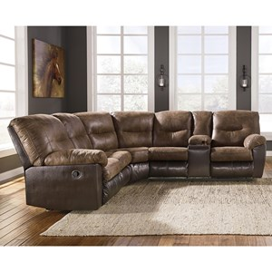 Casual Two-Tone L-Shaped Sectional