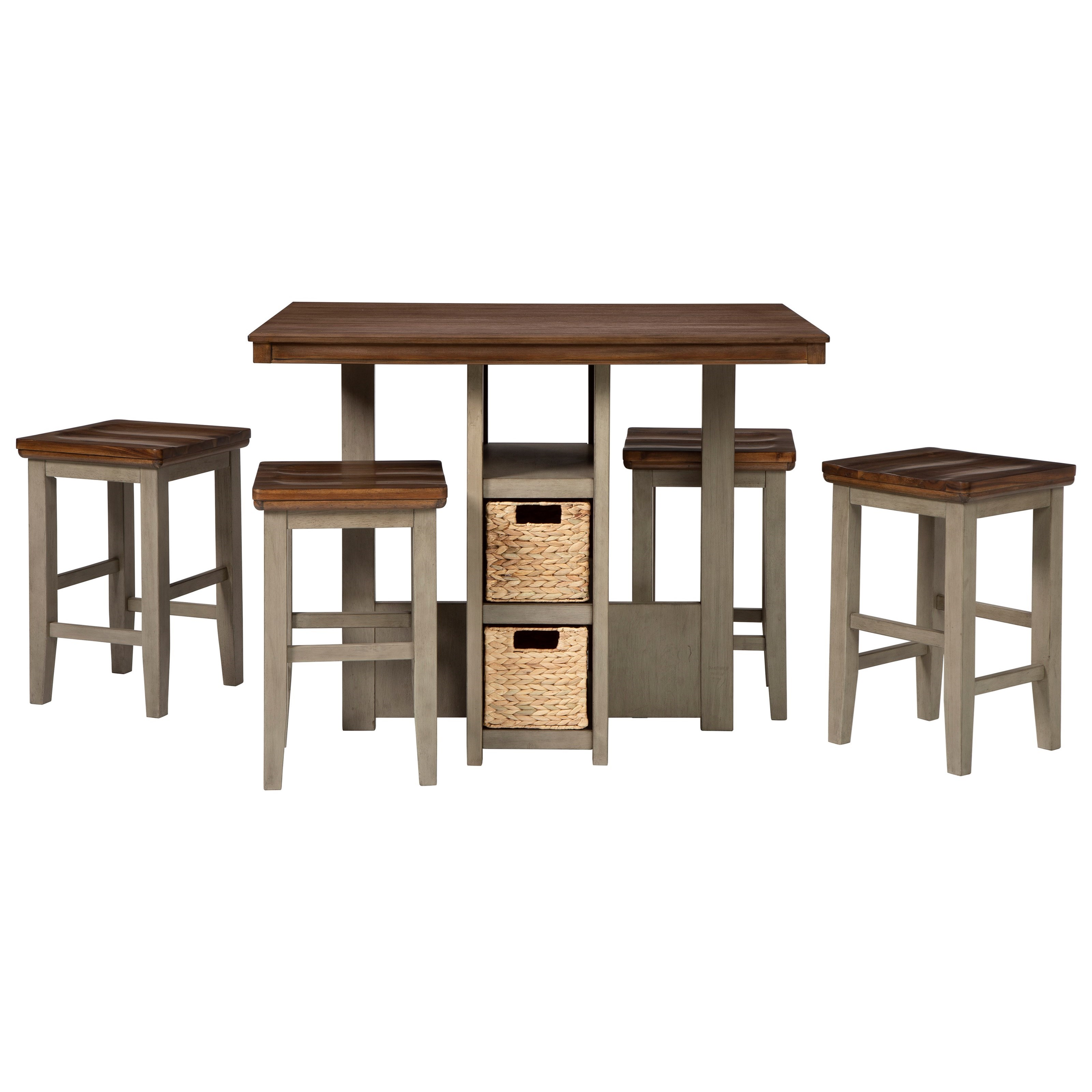 Lettner 5-Piece Counter Table Set by Signature Design by Ashley at HomeWorld Furniture