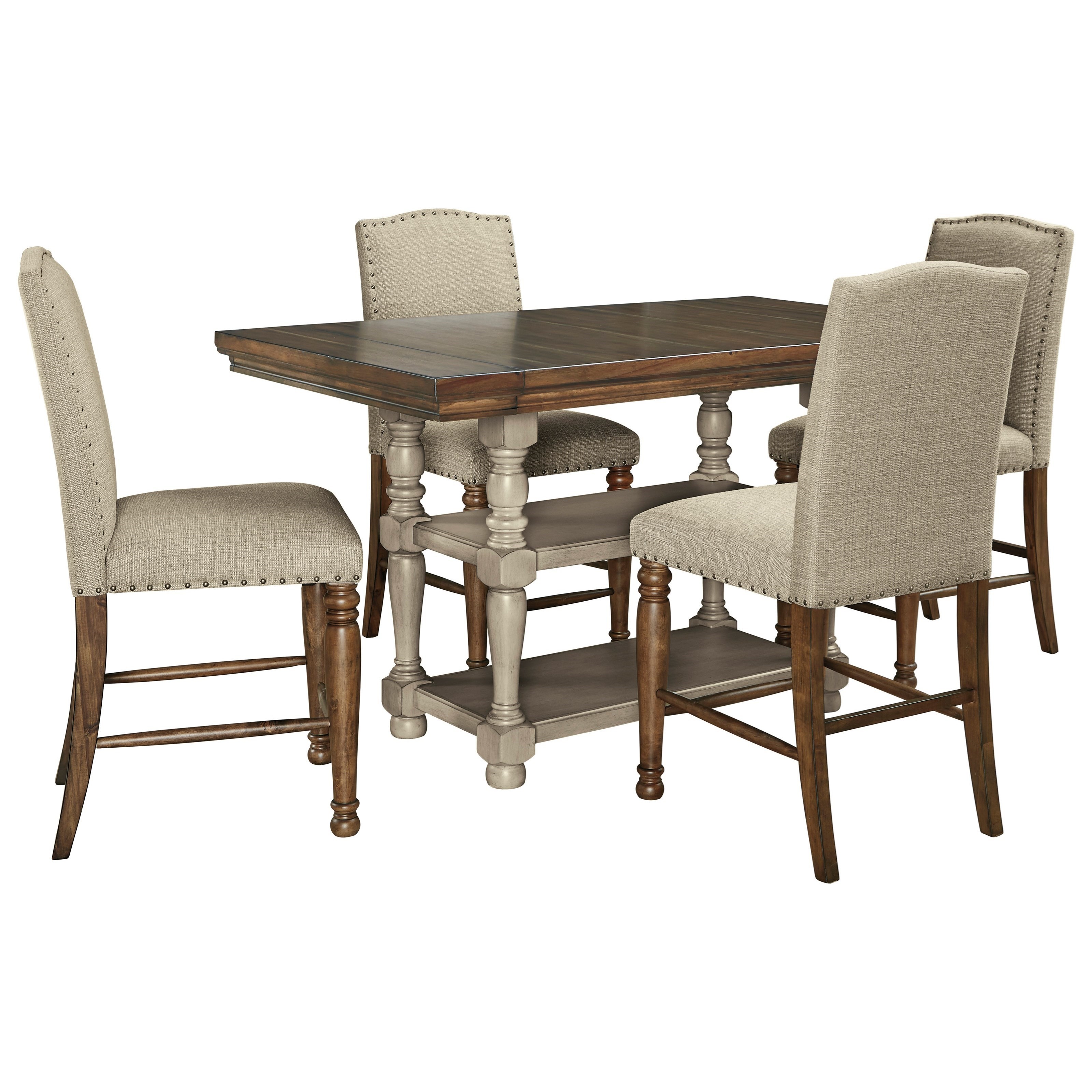 Lettner 5-Piece Counter Table Set by Ashley (Signature Design) at Johnny Janosik