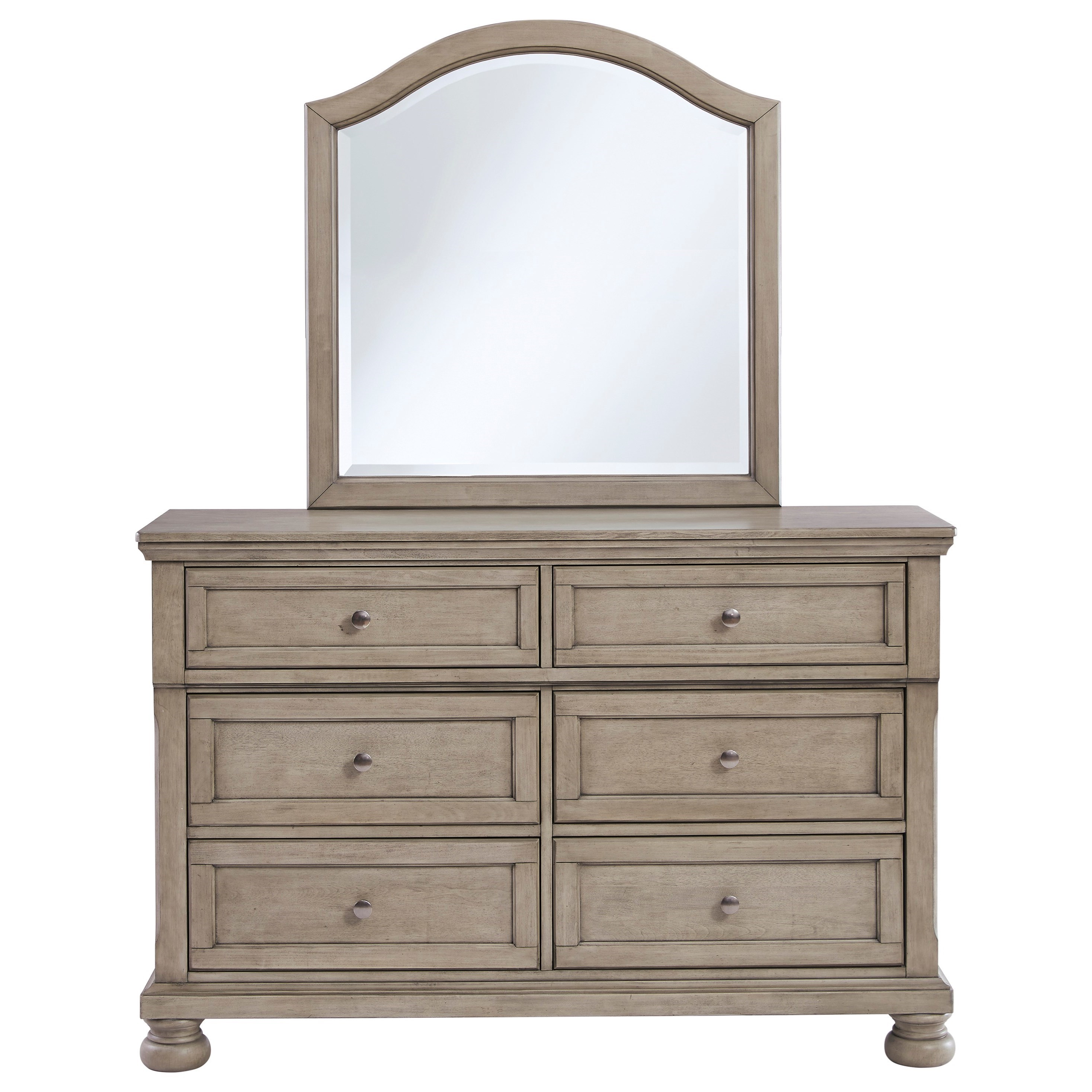 Lettner Dresser & Bedroom Mirror by Signature Design by Ashley at Furniture Barn