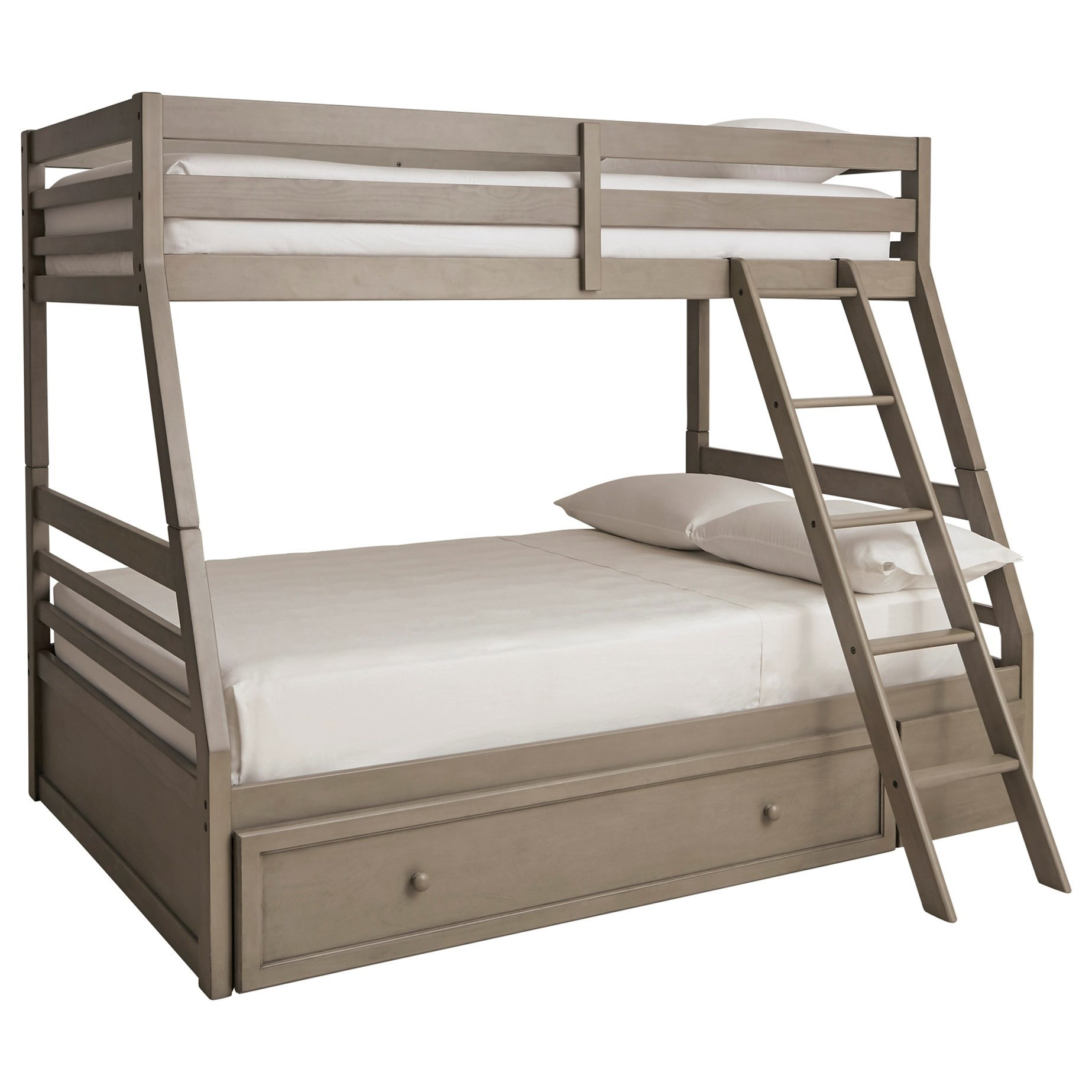 Lettner Twin/Full Bunk Bed w/ Under Bed Storage by Signature Design by Ashley at Beck's Furniture