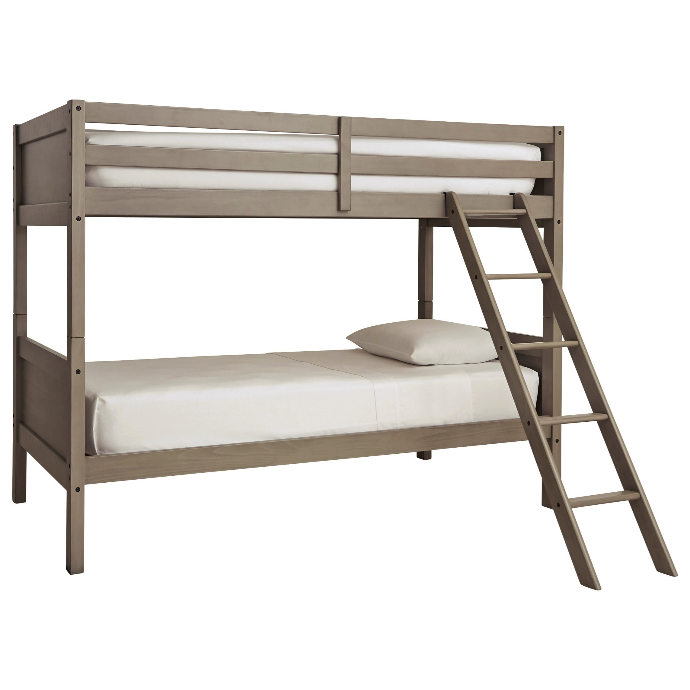 Lettner Twin/Twin Bunk Bed w/ Ladder by Signature Design by Ashley at Beck's Furniture