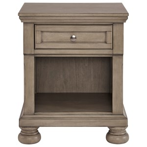 1-Drawer Nightstand with Felt-Lined Top Drawer