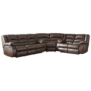 3-Piece Leather Match Reclining Sectional