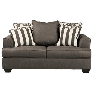 Loveseat with Scatterback Pillows and Plush Coil Seat Cushions