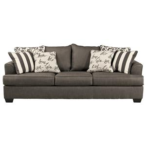 Sofa with Scatterback Pillows and Plush Coil Seat Cushions