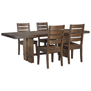 Signature Design by Ashley Leystone 5 Piece Rectangular Table and Chair Set