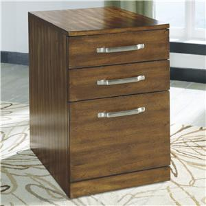 Contemporary Wood File Cabinet
