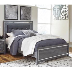Glam Full Upholstered Bed with Color Changing LED Lighting