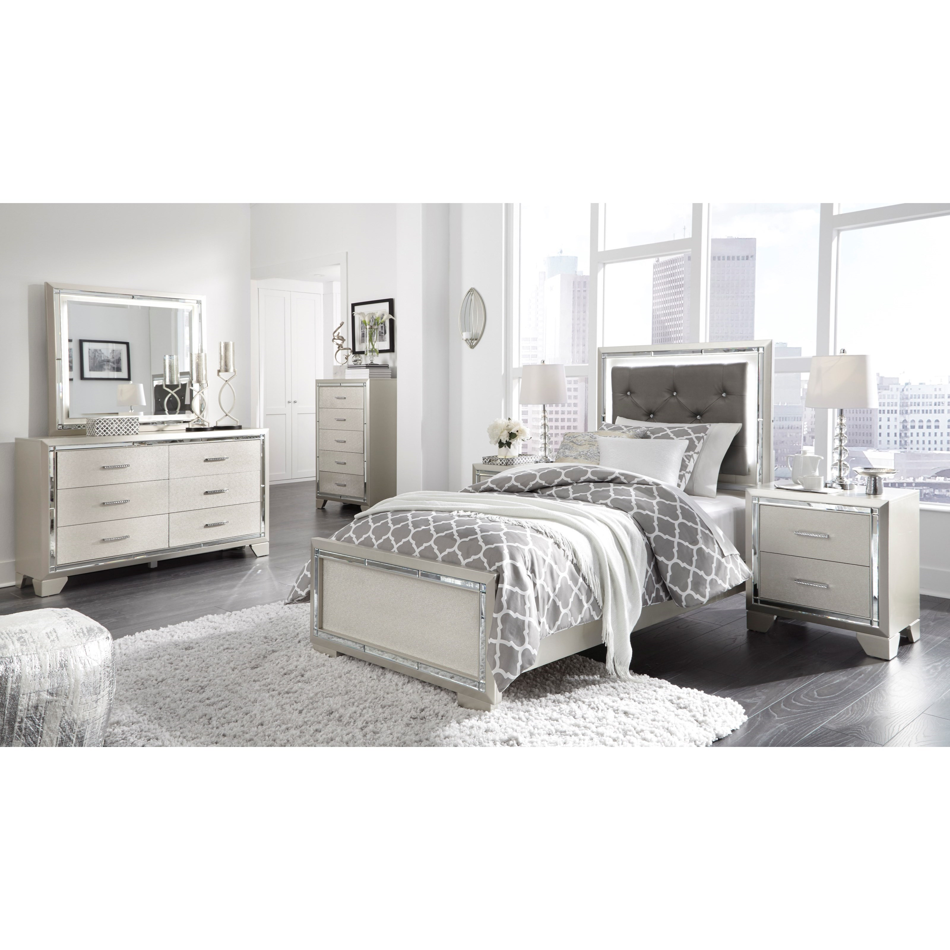 Lonnix Twin Bed Room Group by Ashley (Signature Design) at Johnny Janosik