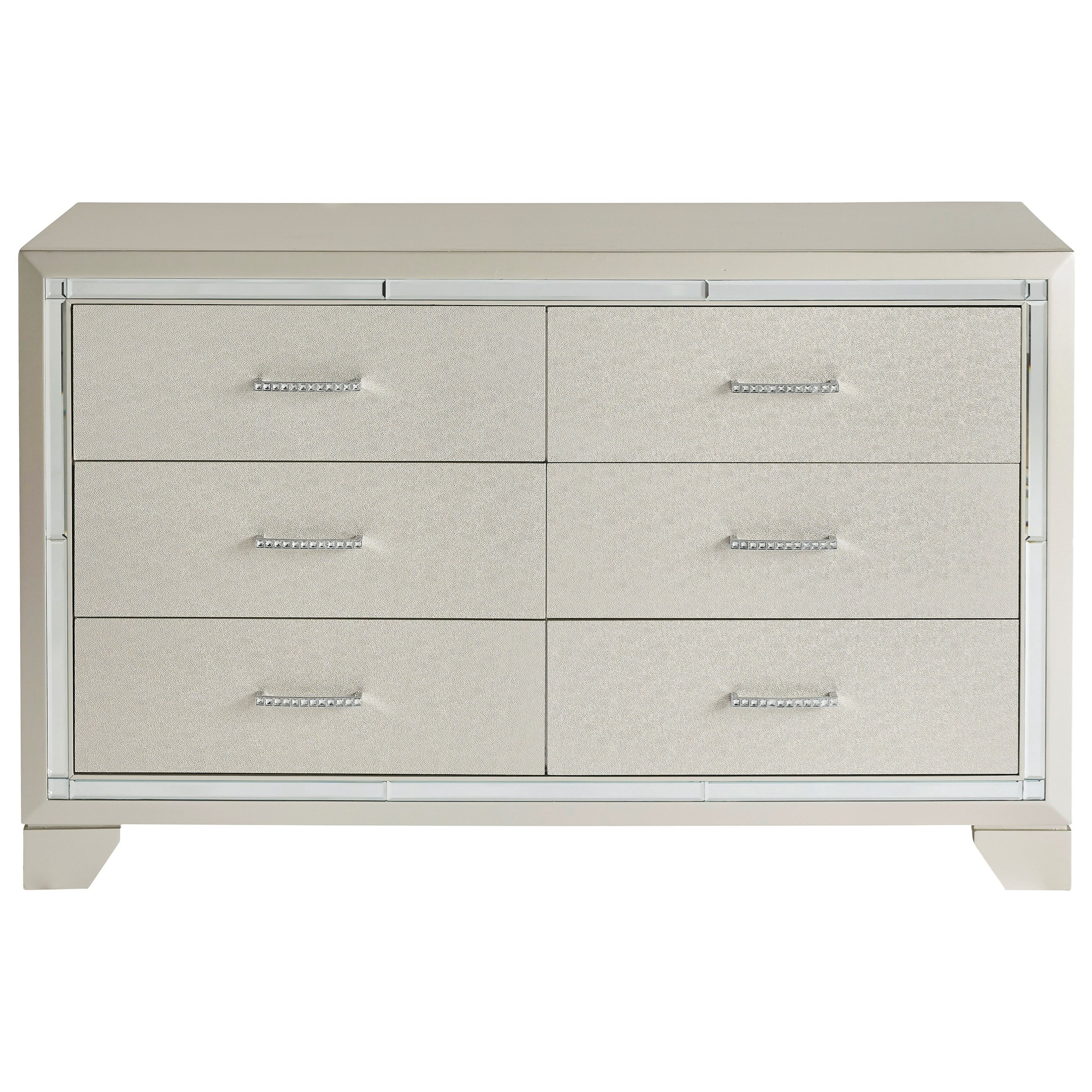 Lonnix 6 Drawer Dresser by Signature Design by Ashley at HomeWorld Furniture
